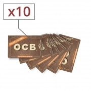 Papier a rouler OCB Slim Virgin rolls et tips x 10