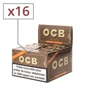 Papier a rouler OCB Slim Virgin rolls et tips x 16