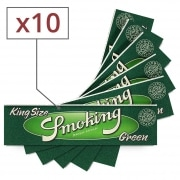 Papier à rouler Smoking Slim Green x10