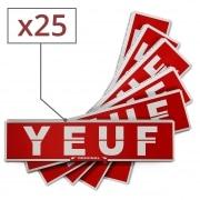 Papier à rouler Yeuf Slim Original x 25