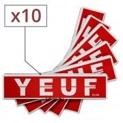 Papier à rouler Yeuf Slim Original et Tips x 10