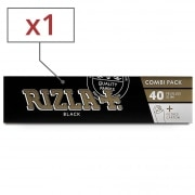 Papier à rouler Rizla + Black Slim et Tips x1