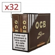 Feuille a rouler OCB Slim Virgin et Tips PACK de 32