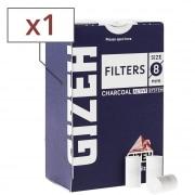 Filtres Charbon Gizeh 8 mm x 1 boite