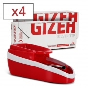 Pack Mini machine à tuber électrique rouge et tubes Gizeh