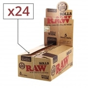 Papier a rouler Raw Rolls Regular x 24