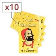 Papier à rouler Zig Zag jaune x10