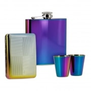 Coffret Flasque Alcool Etui Cigarette Spectrum
