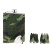 Flasque à alcool Camouflage coffret cadeau