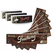 Pack Smoking Feuilles Slim Brown Filtres Carton