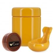 Pack Fumeur de Pipe Céramique Jaune