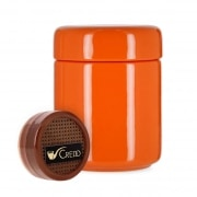Pot à tabac Céramique Orange et Humidificateur Crédo