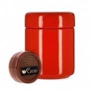 Pot à tabac Céramique Rouge et Humidificateur Crédo