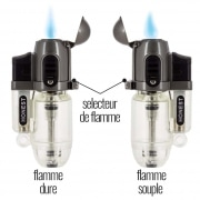 Briquet Honest Torch Tempête Transparent