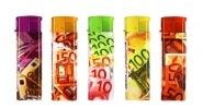 5 Briquets jetables Atomic Billets Euros