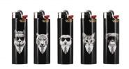 5 briquets Bic maxi à pierre Cool Animals