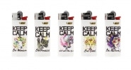 5 briquets Bic mini à pierre Keep Calm