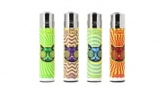 Briquet Clipper Chat lot de 4