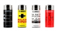 Briquet Clipper Hot Message lot de 4