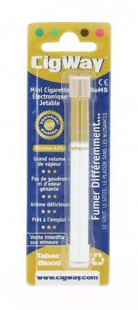 Mini E-Cigarette Jetable Cigway Tabac Blond avec Nicotine