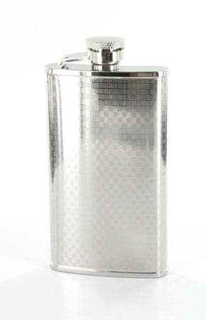 Flasque à alcool Damier 118 ml