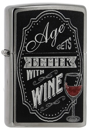 Zippo Better with Wine