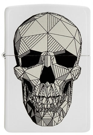 Zippo Geometric Skull
