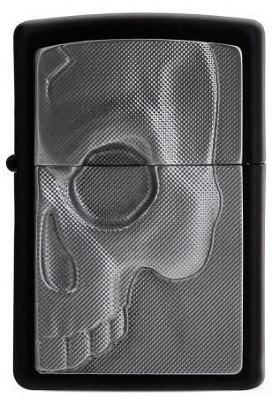 Zippo Noir Half Skull