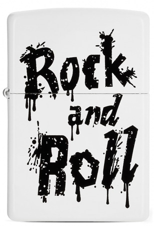 Zippo Rock and Roll Blanc