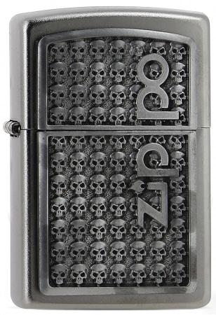 Zippo Logo with Skulls