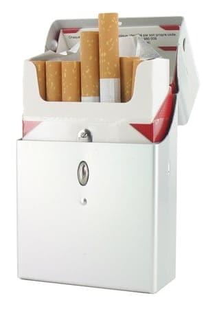 Etui cigarettes Aluminium Bouton