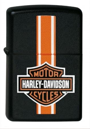 Zippo Harley Davidson Stripes Noir
