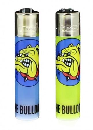 2 Briquets Clipper The Bulldog Couleur surprise