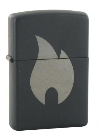 Zippo Logo Noir Flamme