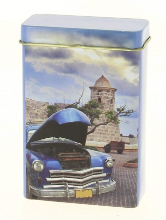 Boite a cigarette Cuba Chevrolet Bleue