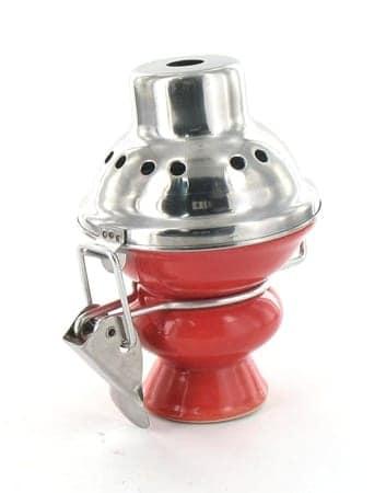 Foyer pour narguilé grand modèle rouge avec couvercle