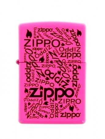 Zippo Logo Neon Rose Fluo