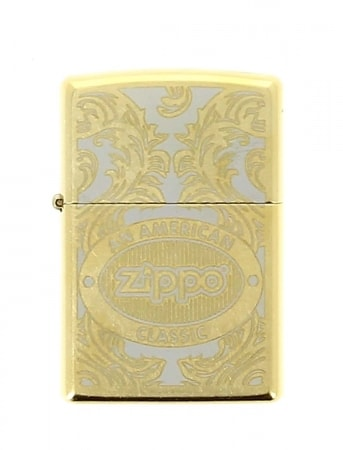 Zippo Scroll Antique Doré