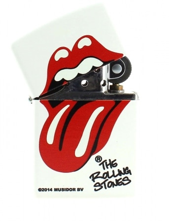 Zippo Rolling Stones blanc