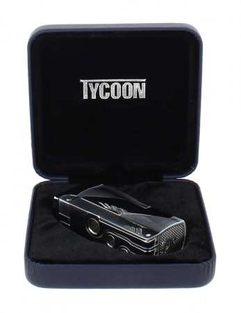 Briquet Tycoon Punch III Double jet gris