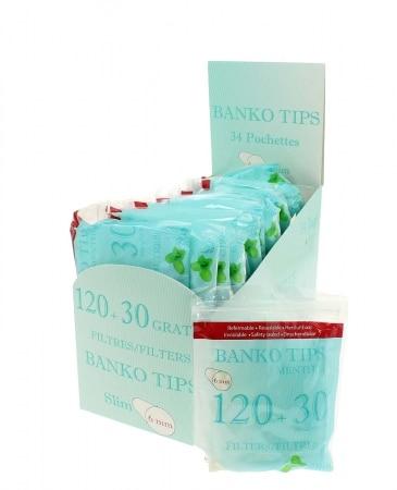 Filtres Banko Slim Menthol x 34 sachets