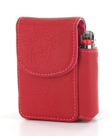 Etui Paquet de Cigarettes et Briquet Rouge
