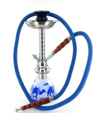 Narguilé 36 cm camel bleu