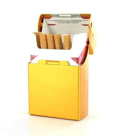 Etui cigarettes Aluminium Or