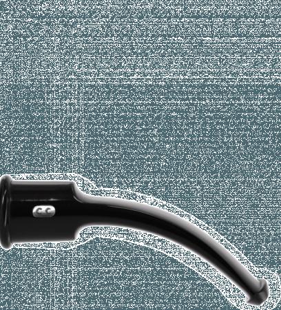 Tuyau courbe 3 noir