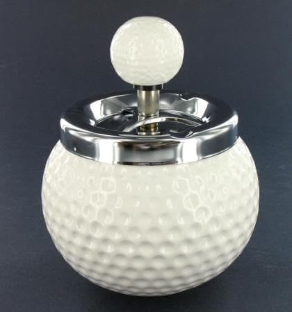 Cendrier Céramique Golf Blanc