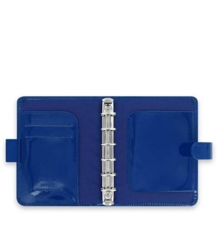 Agenda Filofax Pocket Patent Bleu Foncé