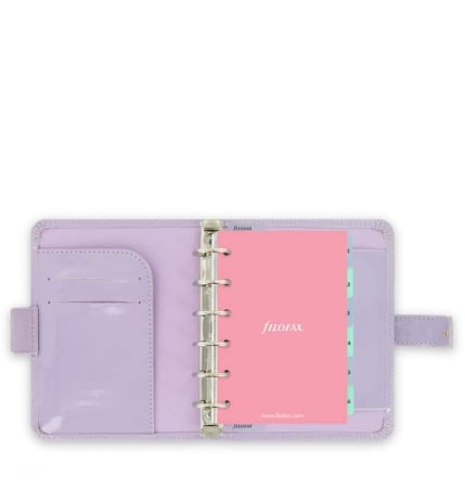 Agenda Filofax Pocket Patent Lavande