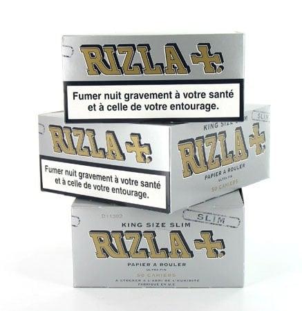 Papier à rouler Rizla + Slim Gris x 50 PACK de 3