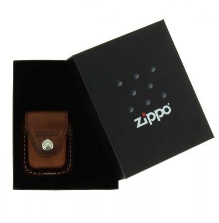 Boite cadeau Zippo avec étui marron à clip